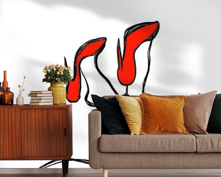 Beispiel fototapete: Rote Fersen von MishMash van Heukelom