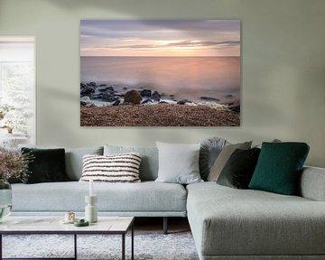 Zonsondergang aan het IJsselmeer van Marga Vroom