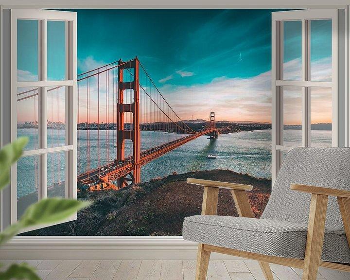 Sfeerimpressie behang: Golden Gate Hotel van Co Seijn