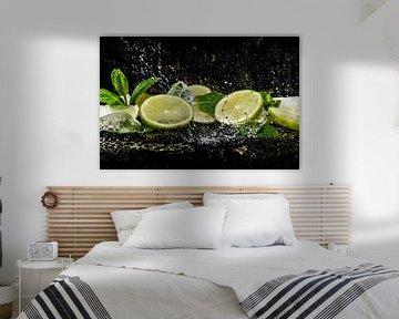 Verfrissende citroen en munt, lemon and mint van Corrine Ponsen