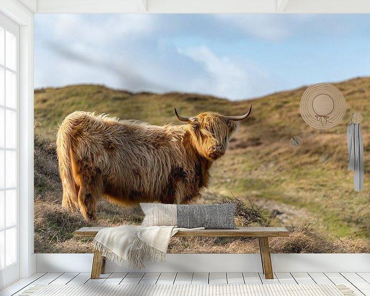 Sfeerimpressie behang: Hooglander bollenkamer Texel van Texel360Fotografie Richard Heerschap