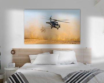Un hélicoptère marin Seahawk dans le désert
