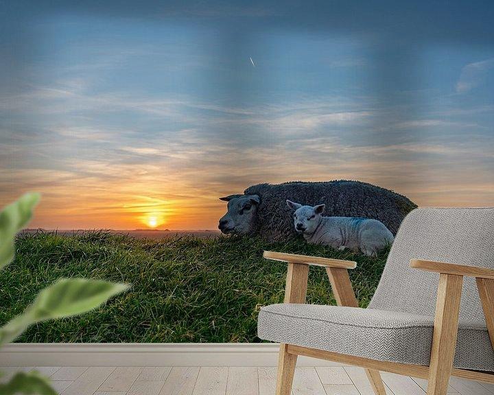 Impression: Agneaux Texel coucher de soleil sur Texel360Fotografie Richard Heerschap