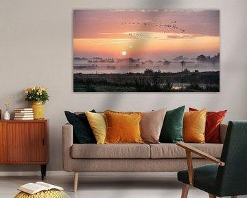 Sonnenaufgang Zalkerdijk. von Bert Visser