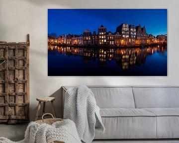 Panorama van het Spaarne in Haarlem - Maart 02 van Arjen Schippers