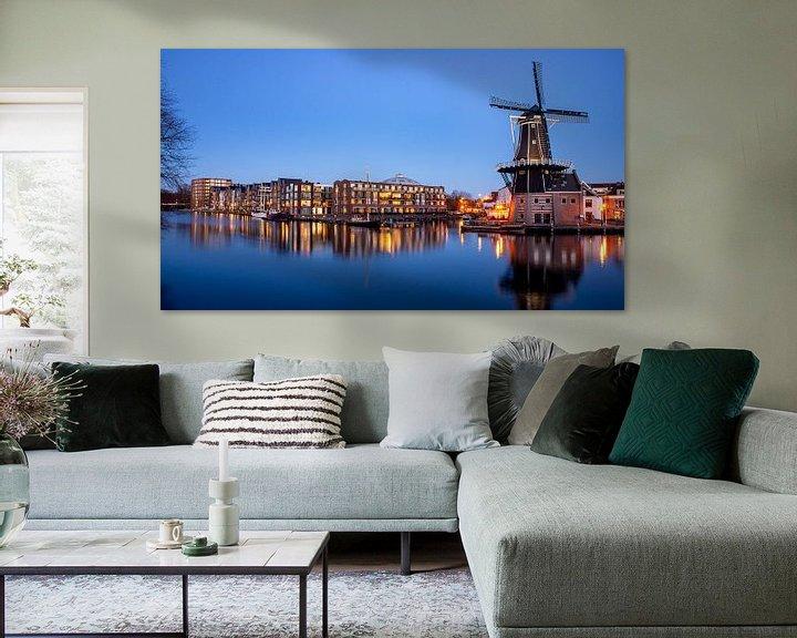 Sfeerimpressie: Panorama van het Spaarne in Haarlem - Maart 04 van Arjen Schippers