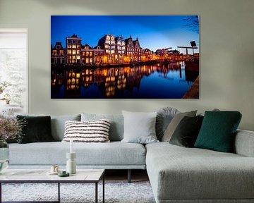 Panorama der Spaarne in Haarlem - März 06 von Arjen Schippers