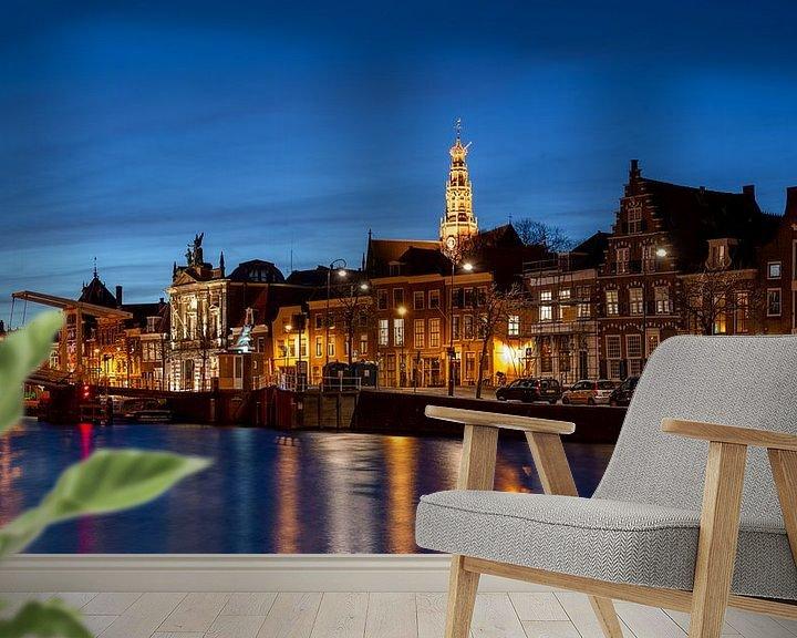 Impression: Spaarne avec vue sur la Grote Kerk et le musée Teyler sur Arjen Schippers