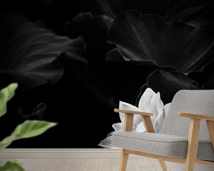 Beispiel fototapete: Abbildung der weißen Lotusblume von Jacky Gerritsen