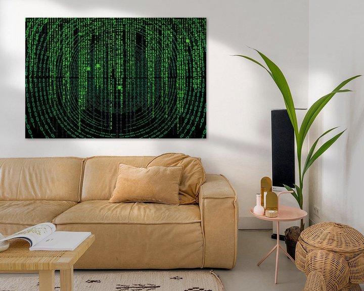 Sfeerimpressie: Matrix code op een scherm van Atelier Liesjes
