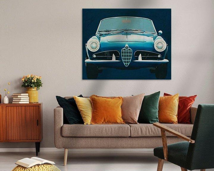 Sfeerimpressie: Alfa Romeo Giulietta 1300 Spyder 1955 van Jan Keteleer