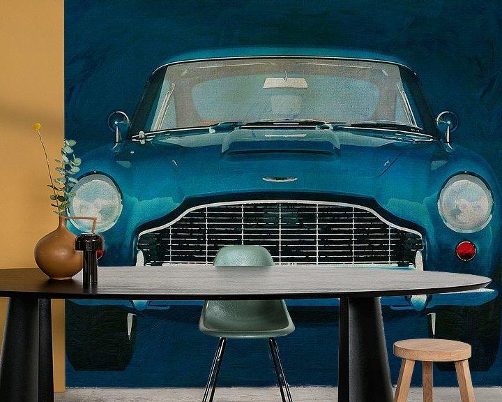 Sfeerimpressie behang: Aston Martin DB5 van Jan Keteleer