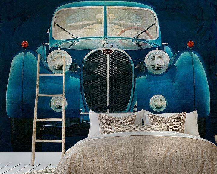 Sfeerimpressie behang: Bugatti Phoenix 57-SC Atlantic 1938 van Jan Keteleer