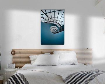 Blaue Spirale von Martijn Kort
