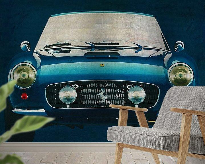 Sfeerimpressie behang: Ferrari 250 GT SWB Berlinetta 1957 voorzijde van Jan Keteleer