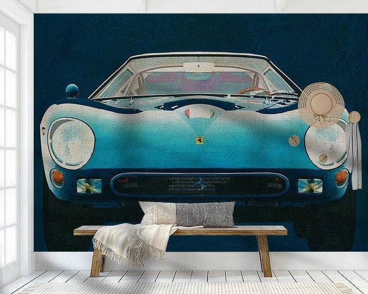 Sfeerimpressie behang: Ferrari 250GTO 1964 Voorkant van Jan Keteleer