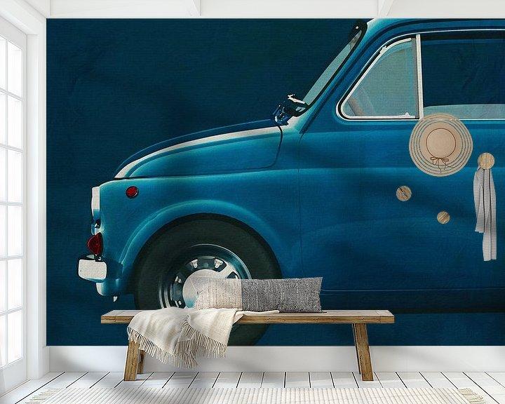 Beispiel fototapete: Fiat Abarth 595 1968 Seite von Jan Keteleer