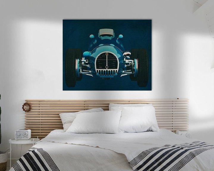 Sfeerimpressie: Gordini T16 Grand Prix 1952 Voorkant van Jan Keteleer