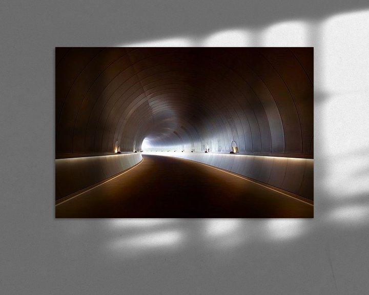 Beispiel: Endloser Tunnel mit Kurve und Beleuchtung von Atelier Liesjes