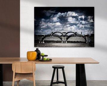 Le barrage du Rhin à Driel (exposition multiple) sur Eddy Westdijk