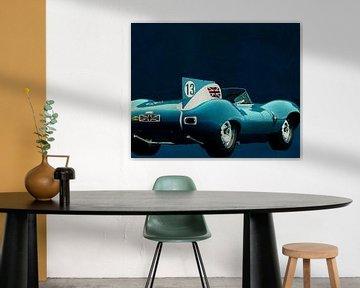 Jaguar Type D 1956 Achterzijde van Jan Keteleer