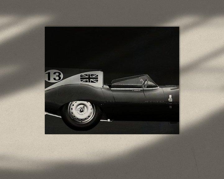 Sfeerimpressie: Jaguar Type D 1956 Rechterzijde B&W van Jan Keteleer