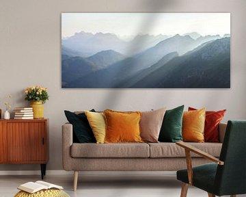 Panorama Dolomieten van Frank Peters