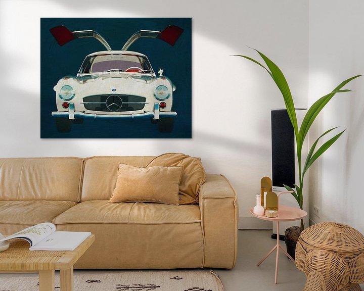 Sfeerimpressie: Mercedes 300SL Gullwings 1964 deuren openen van Jan Keteleer