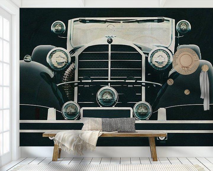 Sfeerimpressie behang: Mercedes 770K Limousine van Jan Keteleer