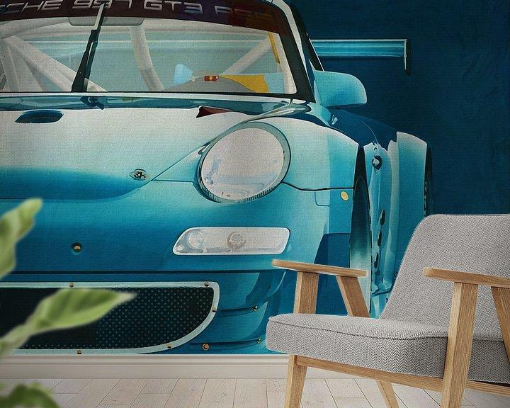 Sfeerimpressie behang: Porsche GT3 RS Cup 2008 voorzijde van Jan Keteleer