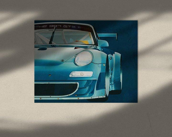 Sfeerimpressie: Porsche GT3 RS Cup 2008 voorzijde van Jan Keteleer