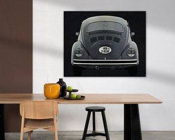 Volkswagen Kever Sedan 1972 Achteraan B&W
