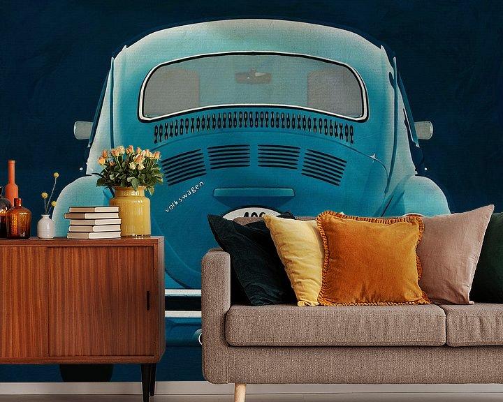 Sfeerimpressie behang: Volkswagen Kever Sedan 1972 Achterkant van Jan Keteleer