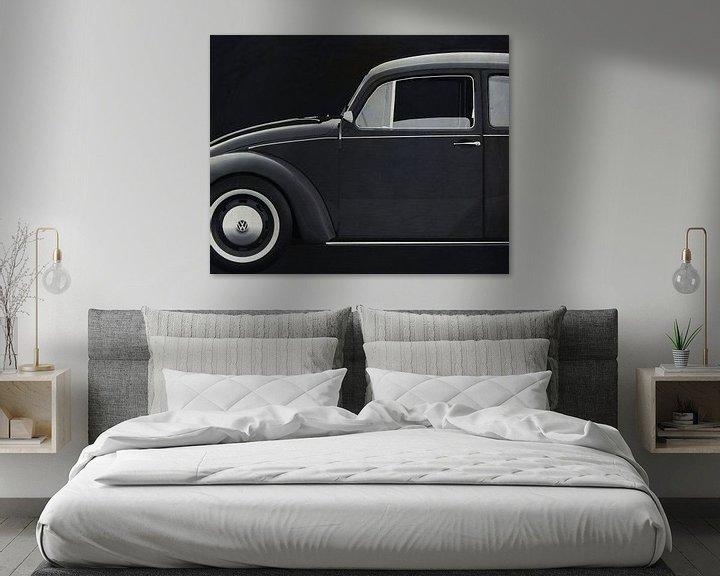 Sfeerimpressie: Volkswagen Kever Sedan 1972 zijde B&W van Jan Keteleer