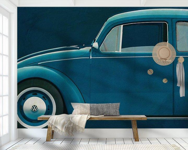 Sfeerimpressie behang: Volkswagen Kever Sedan 1972 zijde van Jan Keteleer