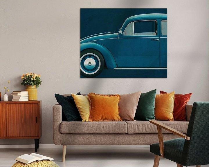 Sfeerimpressie: Volkswagen Kever Sedan 1972 zijde van Jan Keteleer
