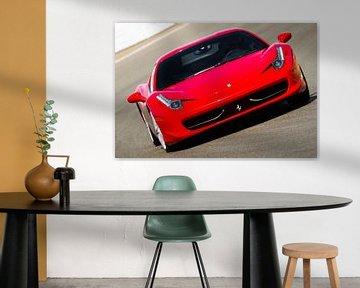 Ferrari 458 Italia sportwagen op hoge snelheid van Sjoerd van der Wal