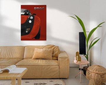 slimme Roadster poster in koper & bruin van aRi F. Huber