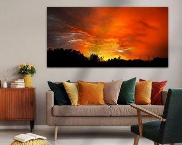 Fire Sky van Katja Waltmans
