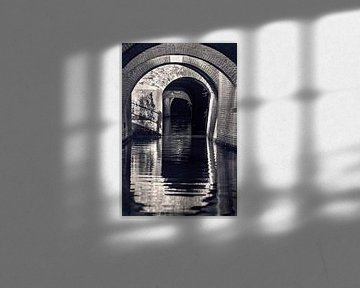 Binnendieze 's-Hertogenbosch zwartwit van Anouschka Hendriks