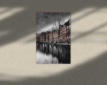 Oudezijds Voorburgwal, Zentrum Amsterdam von Johnny van der Leelie