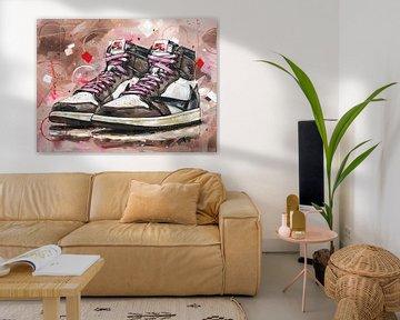 Nike Air Jordan 1 retro high Travis Scott peinture. sur Jos Hoppenbrouwers