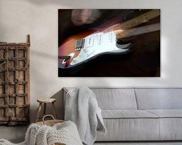 Guitar player van Abra van Vossen