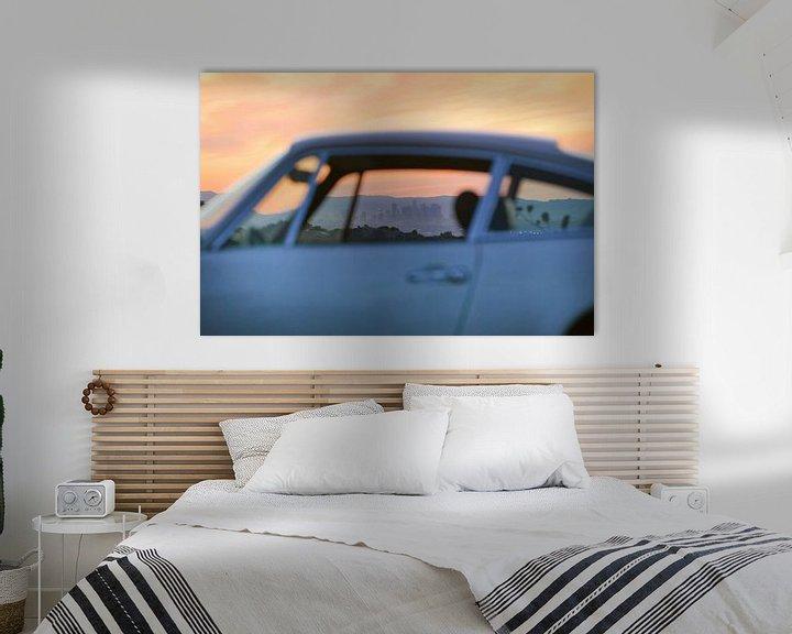 Sfeerimpressie: LA skyline through the window of a 911 van Maurice van den Tillaard