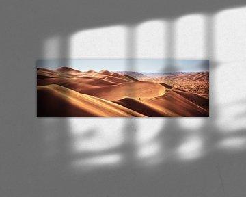 Oman Rub Al Khali Emtpy Qarter Desert Panorama van Jean Claude Castor