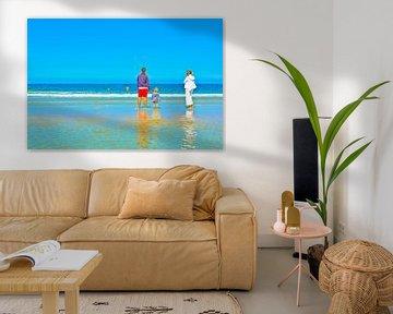 Familie-idylle op het strand van Norbert Sülzner