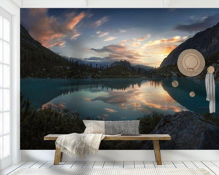 Beispiel fototapete: Morgenruhe in den Dolomiten von Thomas Weber