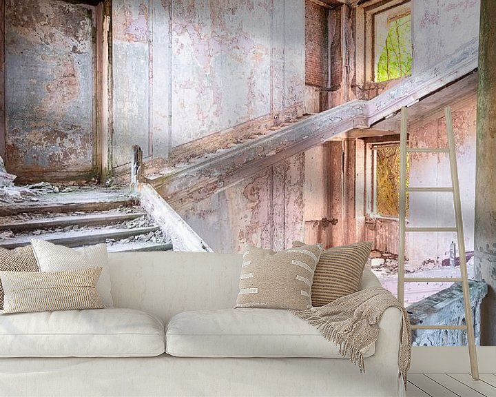 Beispiel fototapete: Grandiose verlassene Treppe. von Roman Robroek