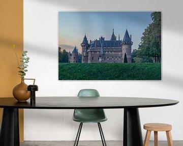Schloss de Haar bei Abendsonne in Haarzuilens (utrecht) von Rossum-Fotografie