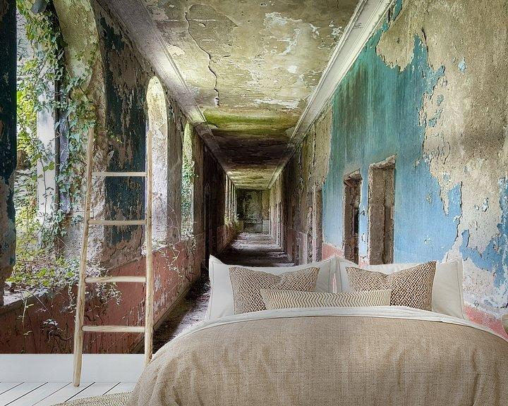 Beispiel fototapete: Korridor im verlassenen Kurort. von Roman Robroek
